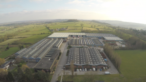 The Masterdor Factory taken by our drone on the company overview video