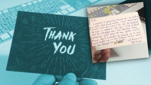 Marketing Tip Thank You card